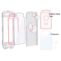 White/ Pink Hybrid Case for Apple® iPod Touch 4th Generation - Thumbnail 2