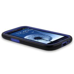 Blue/ Black Hybrid Case for Samsung Galaxy S III - Thumbnail 2