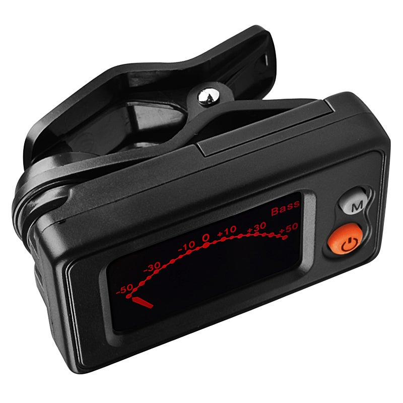 Automatic Black PVC LED Snap-on Guitar Tuner - Acoustic Guitar/Bass