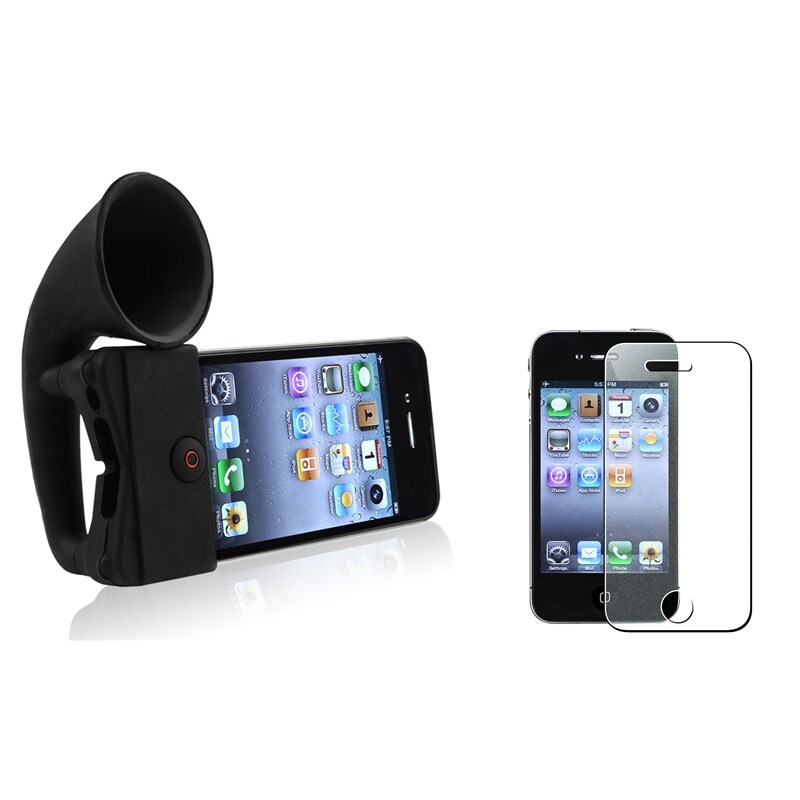 Horn Stand Speaker/ Colorful Screen Protector for Apple® iPhone 4/ 4S