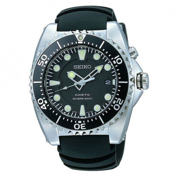 Seiko Men's SKA371P2 Kinetic Dive Watch