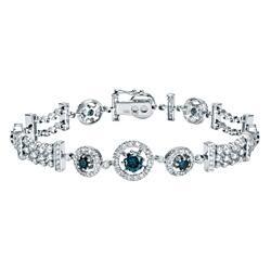 Auriya 14k White Gold 4ct TDW Blue Diamond Bracelet|https://ak1.ostkcdn.com/images/products/6986933/Auriya-14k-White-Gold-4ct-TDW-White-Blue-Diamond-Tennis-Halo-Bracelet-H-I-SI1-SI2-P14497333.jpg?impolicy=medium