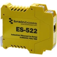 Brainboxes Industrial Ethernet to Serial 2xRS232/422/485