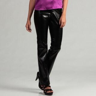 Eye Candy Women's Black Pleather Pants