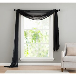 VCNY Infinity Sheer Window Scarf Valance