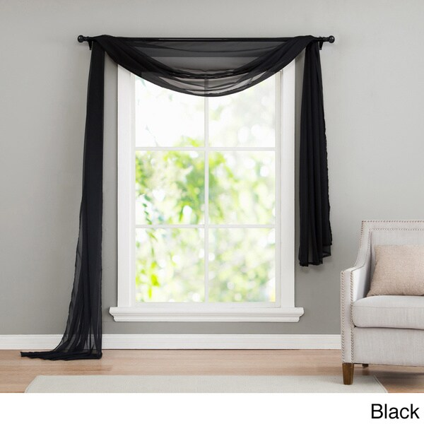 Sheer Scarf Valance Window Treatments Part - 39: VCNY Infinity Sheer Window Scarf Valance - Free Shipping On Orders Over $45  - Overstock.com - 14500377