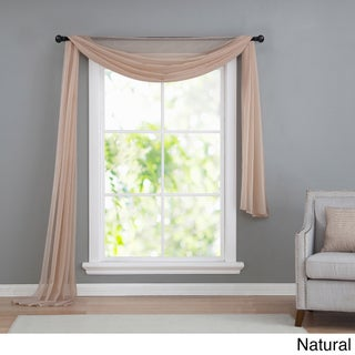 VCNY Infinity Sheer Window Scarf Valance (Option: 54X216 - Natural)