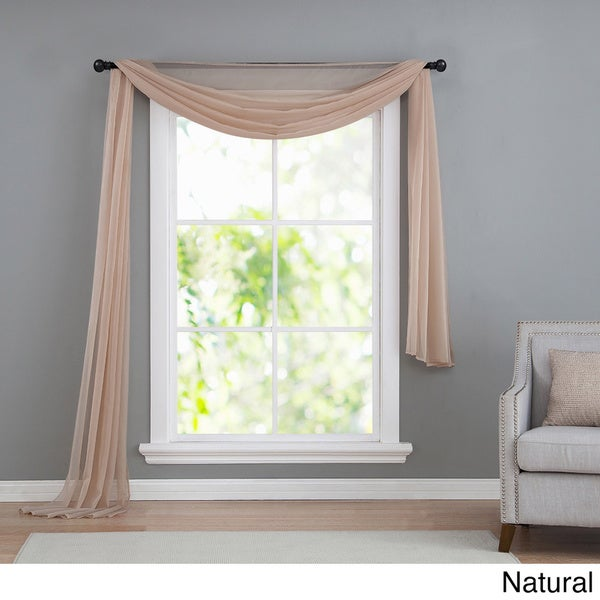 Sheer Scarf Valance Window Treatments Part - 29: VCNY Infinity Sheer Window Scarf Valance - Free Shipping On Orders Over $45  - Overstock.com - 14500377