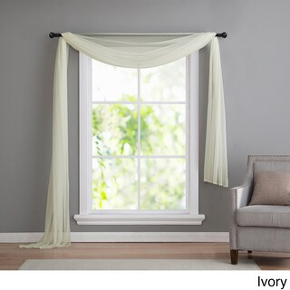 VCNY Infinity Sheer Window Scarf Valance (Option: 54X216 - Ivory)