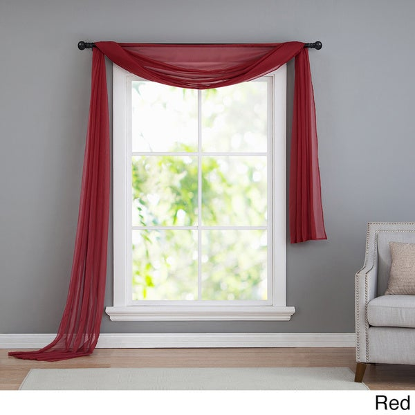 Sheer Scarf Valance Window Treatments Part - 42: VCNY Infinity Sheer Window Scarf Valance - Free Shipping On Orders Over $45  - Overstock.com - 14500377