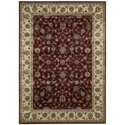 Nourison Persian Arts Burgundy Floral Rug (2' x 3'6)