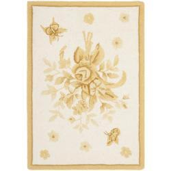 Safavieh Hand-hooked Garden Ivory/ Gold Wool Rug (1'8 x 2'6)