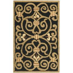 Safavieh Hand-hooked Chelsea Irongate Black Wool Rug (1'8 x 2'6)