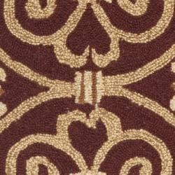 Safavieh Hand-hooked Chelsea Irongate Burgundy Wool Rug (1'8 x 2'6) - Thumbnail 2