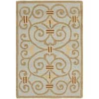 Safavieh Hand-hooked Chelsea Irongate Light Blue Wool Rug - 1'8 x 2'6