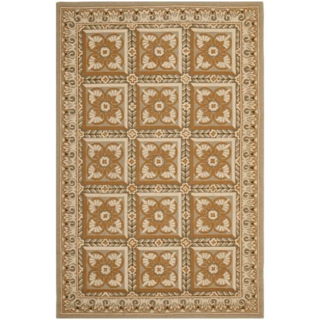 Safavieh Hand-hooked Chelsea Beige Wool Rug (8'9 x 11'9) - 8'9 X 11'9