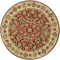 Safavieh Hand-hooked Chelsea Fall Tabriz Red Wool Rug - 8' x 8'