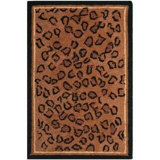 """Safavieh Hand-hooked Chelsea Leopard Brown Wool Rug - 1'-8"""" x 2'-6"""""""