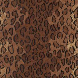 Safavieh Hand-hooked Chelsea Leopard Brown Wool Rug (2'6 x 4')
