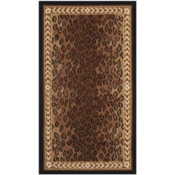 Safavieh Hand-hooked Chelsea Leopard Brown Wool Rug - 2'6 x 4'