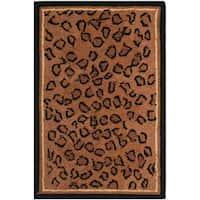 """Safavieh Hand-hooked Chelsea Leopard Brown Wool Rug - 2'6"""" x 4'"""