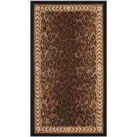 Safavieh Hand-hooked Chelsea Leopard Brown Wool Rug (2'9 x 4'9) - 2'9 x 4'9