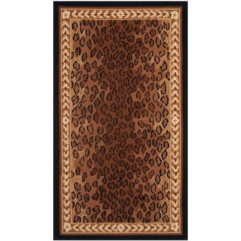 """Safavieh Hand-hooked Chelsea Leopard Brown Wool Rug - 2'9"""" x 4'9"""""""