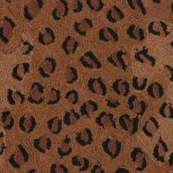 Safavieh Hand-hooked Chelsea Leopard Brown Wool Rug (4' Round) - Thumbnail 2