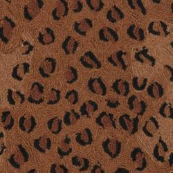Safavieh Hand-hooked Chelsea Leopard Brown Wool Rug (5'6 Round) - Thumbnail 2