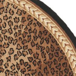 Safavieh Hand Hooked Chelsea Leopard Brown Wool Rug 7 6 X