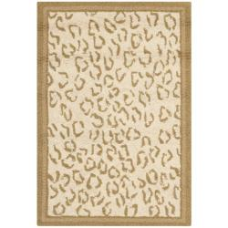 Safavieh Hand-hooked Chelsea Leopard Ivory Wool Rug (1'8 x 2'6)