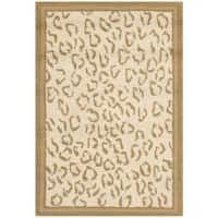 Safavieh Hand-hooked Chelsea Leopard Ivory Wool Rug - 1'8 x 2'6