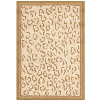 "Safavieh Hand-hooked Chelsea Leopard Ivory Wool Rug - 1'8"" x 2'6"""