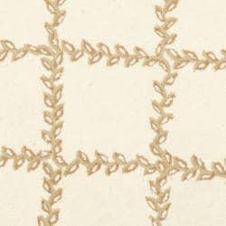 Safavieh Hand-hooked Trellis Ivory/ Beige Wool Rug (5'6 Round) - Thumbnail 2