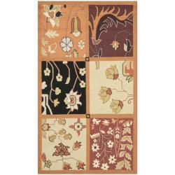 Safavieh Hand-hooked Panels Rust Wool Rug (2'9 x 4'9)