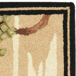 Safavieh Hand-hooked Winery Gold/ Multi Wool Rug (1'8 x 2'6) - Thumbnail 1