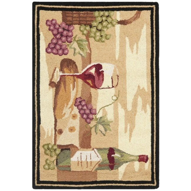 Safavieh Hand-hooked Winery Gold/ Multi Wool Rug (1'8 x 2'6)