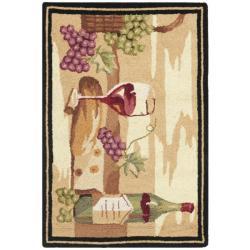 Safavieh Hand-hooked Winery Gold/ Multi Wool Rug (1'8 x 2'6)