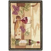 Safavieh Hand-hooked Winery Gold/ Multi Wool Rug (1'8 x 2'6) - 1'8 x 2'6