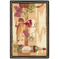 "Safavieh Hand-hooked Winery Gold/ Multi Wool Rug - 1'-8"" X 2'-6"""