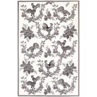 "Safavieh Hand-hooked Hens Grey Wool Rug - 5'-3"" x 8'-3"""