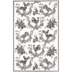 Safavieh Hand-hooked Hens Grey Wool Rug - 7'6 x 9'9 - Thumbnail 0