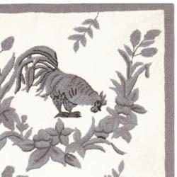 Safavieh Hand-hooked Hens Grey Wool Rug (8'9 x 11'9) - Thumbnail 1