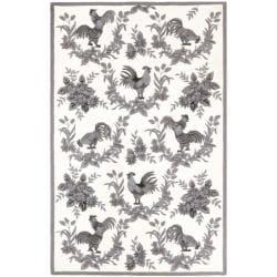 Safavieh Hand-hooked Hens Grey Wool Rug (8'9 x 11'9) - Thumbnail 0