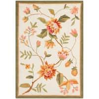 "Safavieh Hand-hooked Garden Ivory Wool Rug - 1'-8"" x 2'-6"""