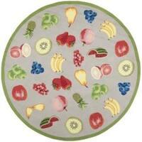Safavieh Hand-hooked Chelsea Fruits Grey Wool Rug (8' Round) - 8' Round