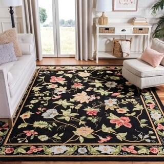 """Safavieh Hand-hooked Chelsea Gardens Black Wool Rug - 1'8"""" x 2'6"""""""