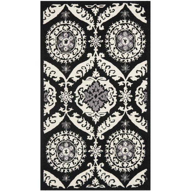 Safavieh Hand-hooked Chelsea Heritage Black Wool Rug (2'9 x 4'9)
