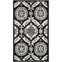 Safavieh Hand-hooked Chelsea Heritage Black Wool Rug - 2'9 x 4'9