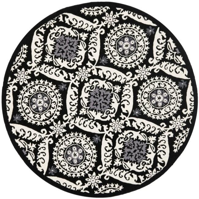Safavieh Hand-hooked Chelsea Heritage Black Wool Rug (8' Round)